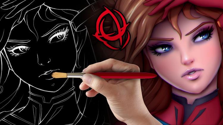 Kursus/Jasa Menggambar | Seni Menggambar Karakter: Mewarnai dan Melukis Lengkap