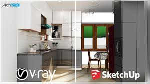 Jasa Pembuatan Aplikasi | Kursus Sketchup | Vray Next + Sketchup 2019: Rendering Photorealistic Kitchenset