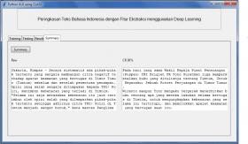 Hasil Karya Siswa | Kursus Python | Membuat Deep Learning Peringkasan Teks Bahasa Indonesia Menggunakan Jaringan Syaraf Tiruan