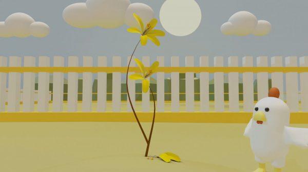 Hasil Karya Siswa | Kursus 3D Studio Max | Membuat Animasi 3D Chicken Menggunakan 3D Studio Max