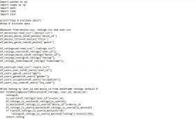 Hasil Karya Siswa | Kursus Python | Membuat Recommender System Data Movielens 100K