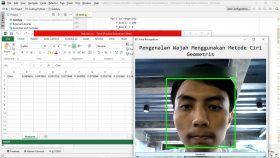 Hasil Karya Siswa | Kursus Python | Membuat Aplikasi Pengenalan Wajah Menggunakan Ekstraksi Ciri Geometris