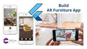 Kursus/Jasa Android   Flutter Augmented Reality AR Furniture App Menggunakan ARCore